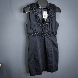 French Connection Dress Size 10 Black Womens